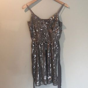 Express Sequins & Lace Dress